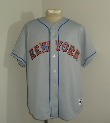 Mens Majestic NY NEW YORK METS SEWN Stitched Jose REYES #7 Jersey USA MADE XL
