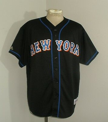 Mens Majestic NY NEW YORK METS SEWN Stitched MO VAUGHN #42 Jersey USA MADE 2XL