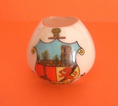 Swan Crested China  Vase Bawtry Crest