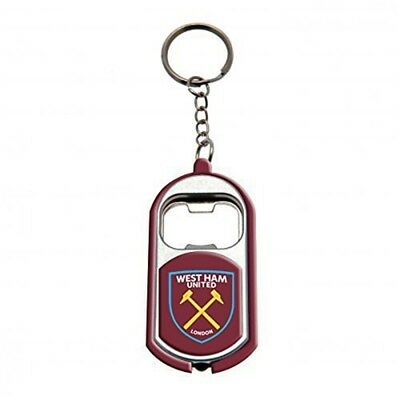 West Ham United Torch Light Bottle Opener Keyring - Football Gift Fc