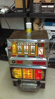 Vintage 1976 Bally 25 Cent Slot Machine 3 Coin Buy A Pay Low Boy Model 1113