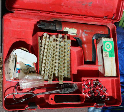 Hilti DX35 Powder Actuated Nail Gun Ramset plus case & extras WORKS GREAT