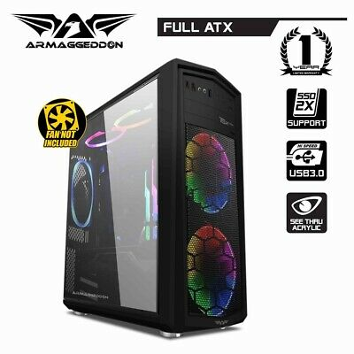 PC Case Gaming Tower Armaggeddon T5X Pro II Computer Gaming Case Full ATX Audio
