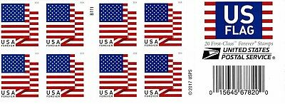 One Book Of 20 U.s. Flag 2018 Usps First Class Forever Postage Stamps #b111