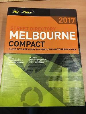 UBD/Gregory's Melbourne Compact Street Directory 2017 15th edition