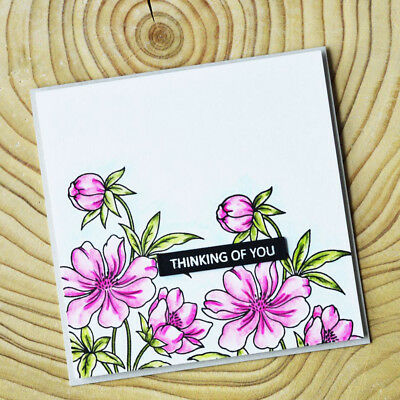 Metal Cutting Dies flower clear stamp Craft photo Album Scrapbook Decor diy zx