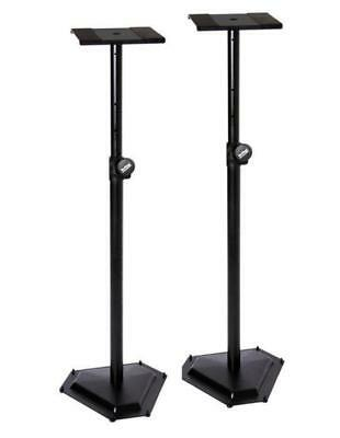 On Stage Pair of Near-Field Studio Monitor Stands with Weighted Hex Base