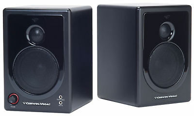 Cerwin Vega XD3 Powered Desktop/Laptop Computer Monitor Speakers with Aux Input