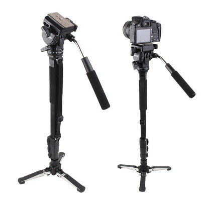 Professional Retractable Pro Monopod Fluid Pan Head Ball DV Unipod for SLR USA