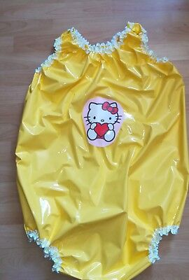 Adult Baby Body Spreizbody  Windelbody DIAPER SPREIZHOSE PVC LACK HALLO KITTY