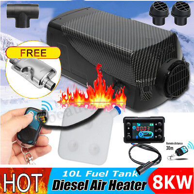12V 8000W Air Diesel Heater 8KW LCD Monitor Remote Silencer For Truck Boat Car