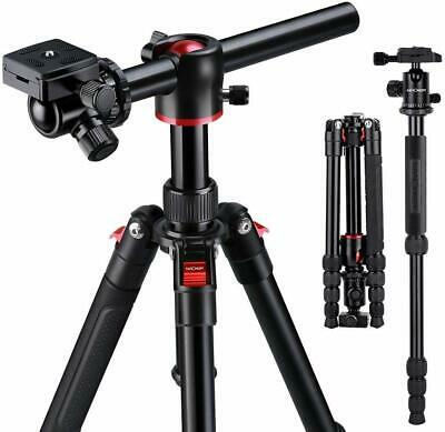 K&F Concept DSLR SLR Camera Tripod Monopod w/ Ball Head Transverse Center Column