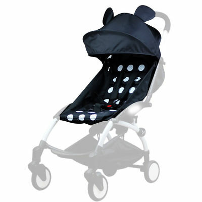 For Baby YOYO Stroller Accessories 165°Sunshade Shed Cover Canopy + Seat Pad Mat