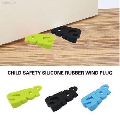 99E7 Baby Home Security Doorstops Windproof Silicone Word Safety Protector
