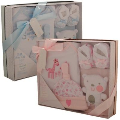 Pink blue boy girl gift box new baby shower maternity leaving gift set clothes