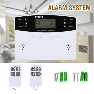 7F3F Smart Voice LCD GSM Wireless+Wired Home Guard Burglar Alarm Support Time Se