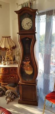 "Rare French ""morbier"" Antique Grandfather Clock - From 1871"