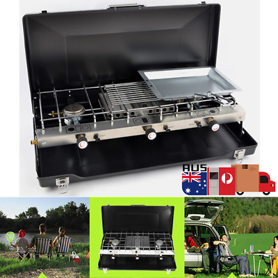 Portable Tabletop BBQ Gas Stove Grill Cooker Outdoor Camping AU Stock