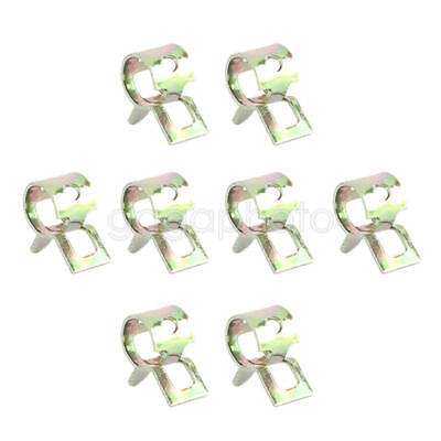 20pcs 6mm Water Pipe Air Tube Clamp Fuel Line Hose Spring Style Clip Fastener