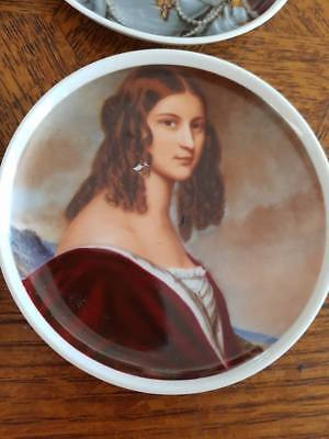 Rare KAISER W GERMANY Porcelain Wall Plate Collection - Portraying Auguste Strob