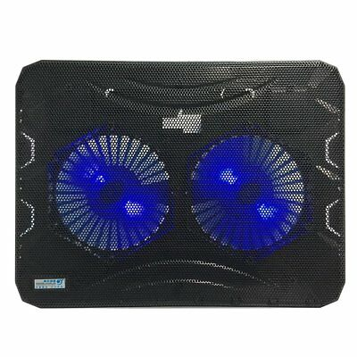 Double Cooling Fan LED Light Laptop Notebook Cooler Radiator Cooling Pad MT