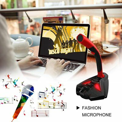 Desktop USB Gaming Computer Multimedia Microphone With Stand for Laptop PC MT