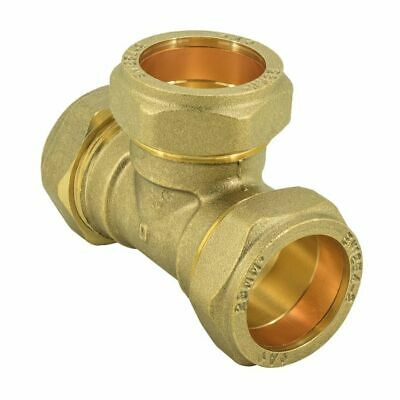 Compression  Equal Tee -15mm Brass