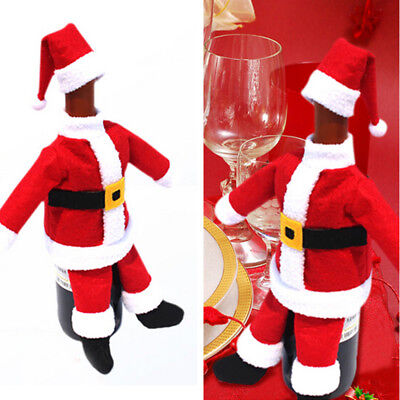 Christmas Wine Bottle Holder Cover Gift Bag Presents Novelty  Xmas Santa Bags