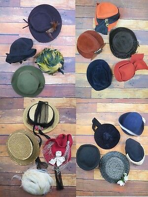 Vintage JOB LOT 25 Hats Ideal For Theatrical, Millinery Re-Modelling, Dress Up