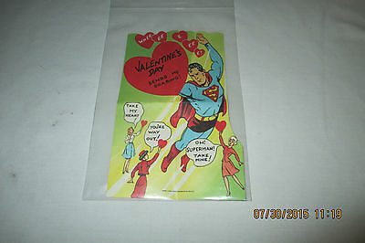 "1966 Superman Valentine Die Cut Card -   Wheeee!   8"" X 5"""