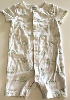 16bef9c1e10 BABY GAP BOYS Size 18-24 Months One Pc Shortall Romper White Turtles ...