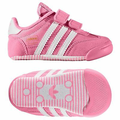 adidas ORIGINALS DRAGON L2W CRIB TRAINERS PINK BOOTIES SHOES BABY KIDS GIRLS NEW