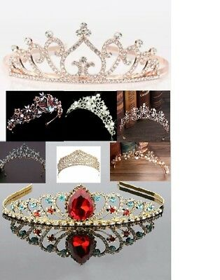rose gold tiara or colours wedding bride headpeice gift various pink