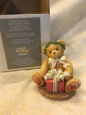 1998 Cherished TeddiesMargy I'm Wrapping Up A Little Holiday Joy from Avon