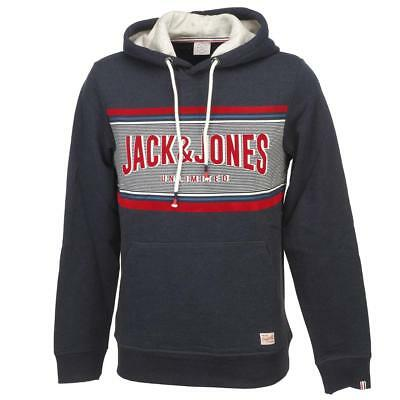 Sweat capuche hooded Jack and jones Lonely totaleclipse capsw Bleu 11919 -  Neuf 2dc214cad6c1