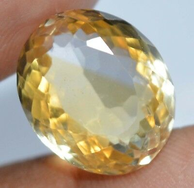 12.95 Ct Natural Yellow Citrine AGSL Certified Untreated Superb Quality Gem