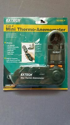 Extech 45168CP: Mini Thermo-Anemometer with Built-in Compass