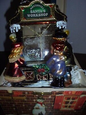 Komozja  Polonaise Santa's Work Shop Glass Ornament  Nib