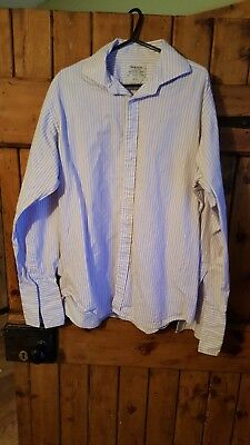 Men's TM Lewin London Slim Fit Shirt 16.5/42 Amazing Condition Hardly Worn