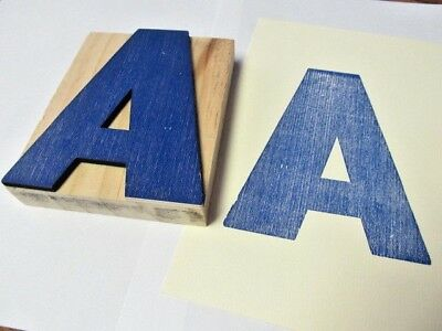 """Letter """"A""""  5"""" WOOD LETTERPRESS PRINTING PLATE / BLOCK ~ Home Decor Name Initial"""