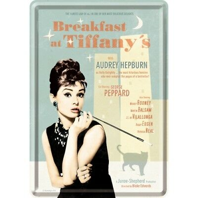Nostalgic Art – Blechpostkarte 10 x 14 cm - Breakfast at Tiffanys