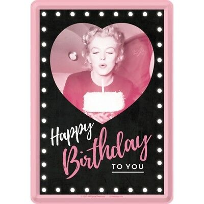 Nostalgic-Art - Blechpostkarte 10 x 14 cm – Marilyn - Happy Birthday