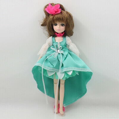 30 Joints Vinyl BJD Body Doll-Making Various Postures Toy Gift Mint Green