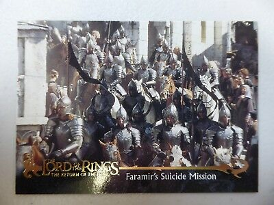 TOPPS Card : LOTR The Return Of The King  #40 FARAMIR'S SUICIDE MISSION