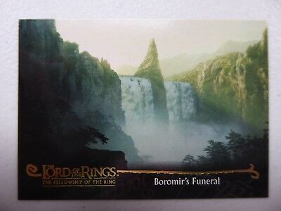 TOPPS Card : LOTR The Fellowship Of The Ring  #152 BOROMIR'S FUNERAL