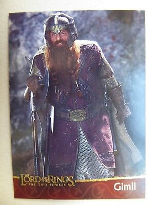 TOPPS Lord of the Rings: The Two Towers - Trading Card #6 GIMLI