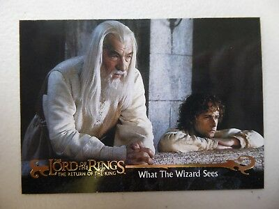 TOPPS Card : LOTR The Return Of The King  #32 WHAT THE WIZARD SEES
