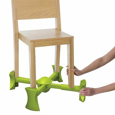 Kaboost Booster Seat for Dining, Green – Goes Under the Chair – Portable Chai...