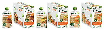Sprout Organic Baby Food Pouches Stage 3 Meat Variety Pack, 4.0 Ounce (Pack o...
