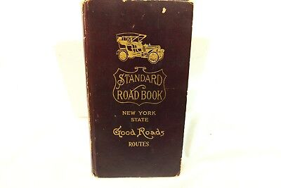 Standard Road Book NEW YORK STATE Good Roads maps advertising Early 1900 RARE SS